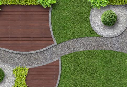 Gartenanlage von oben gesehen